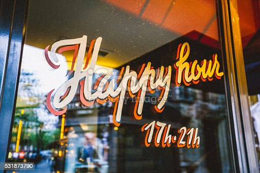istock Happy Hour Sign 531873790