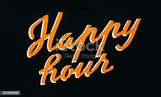 istock Happy Hour Sign 532569992