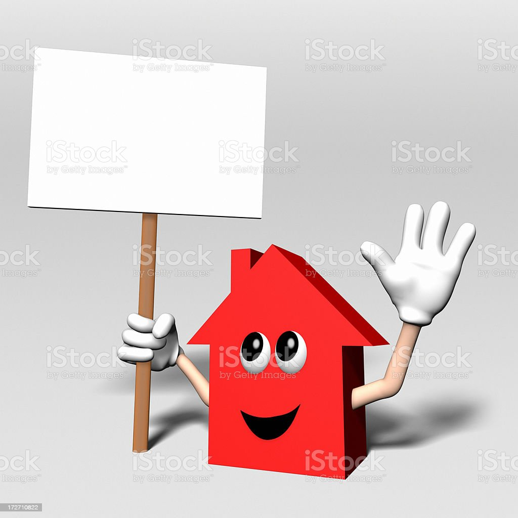 Happy House Sign XL royalty-free stock photo