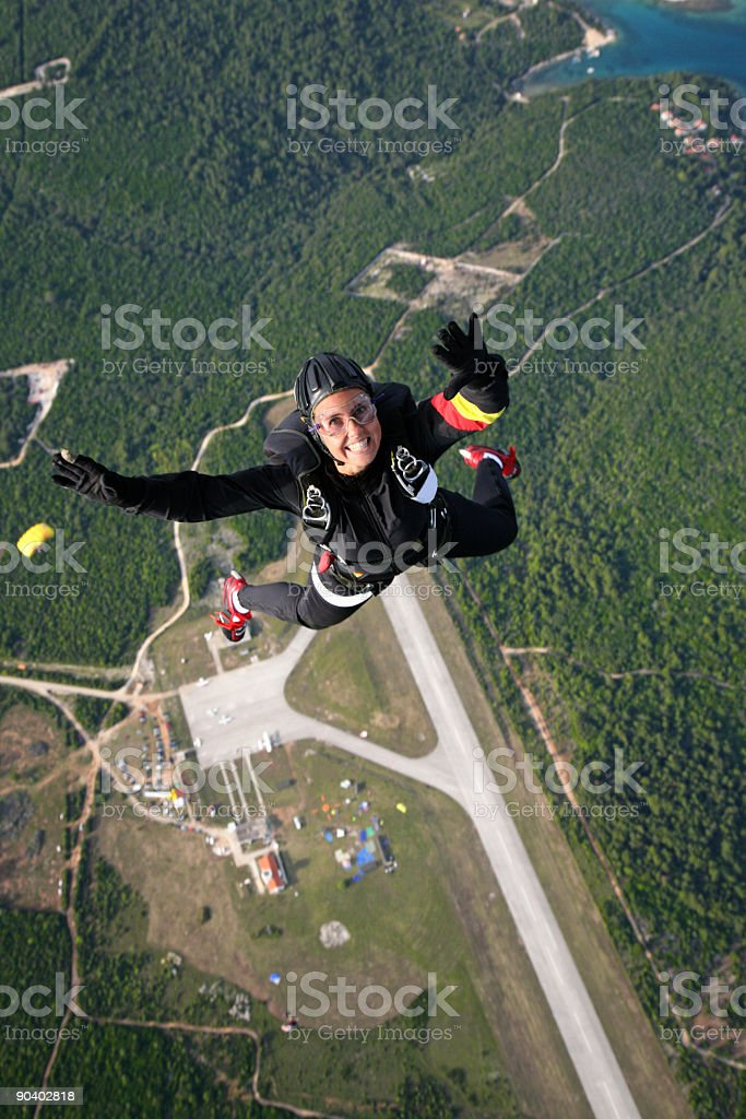 Happy in air royalty-free stock photo