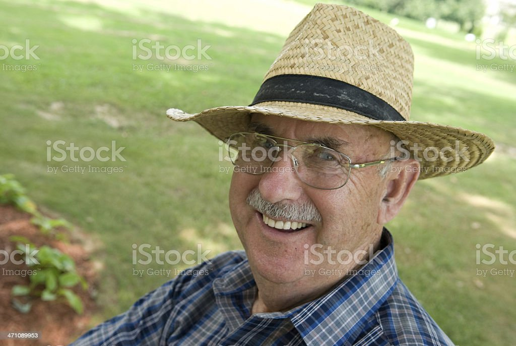 Happy In Retirement - Senior Citizen royalty-free stock photo
