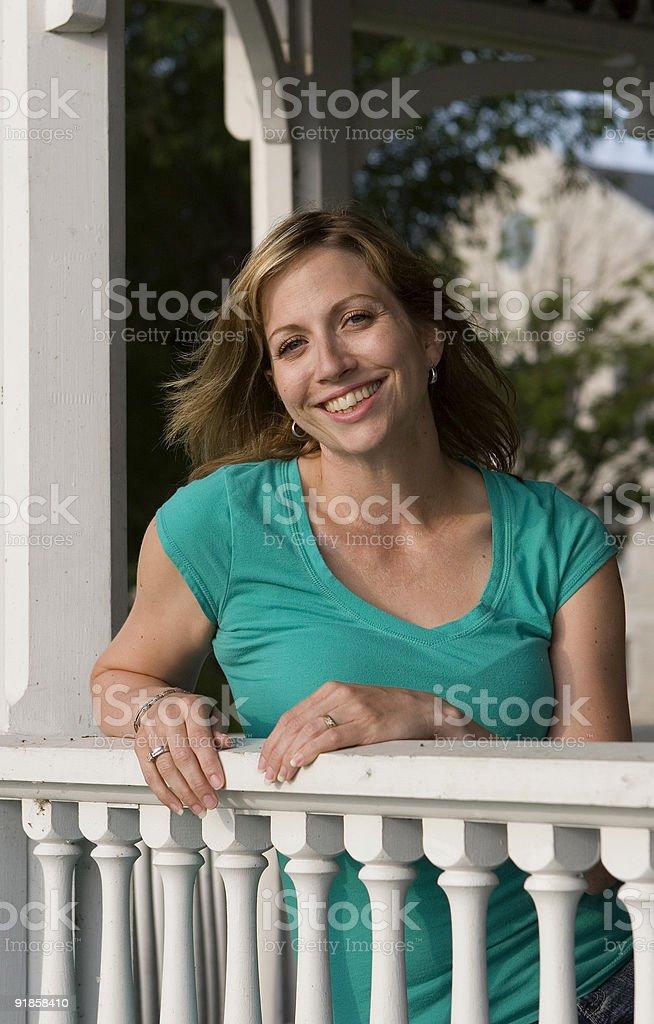 Happy in summer stock photo