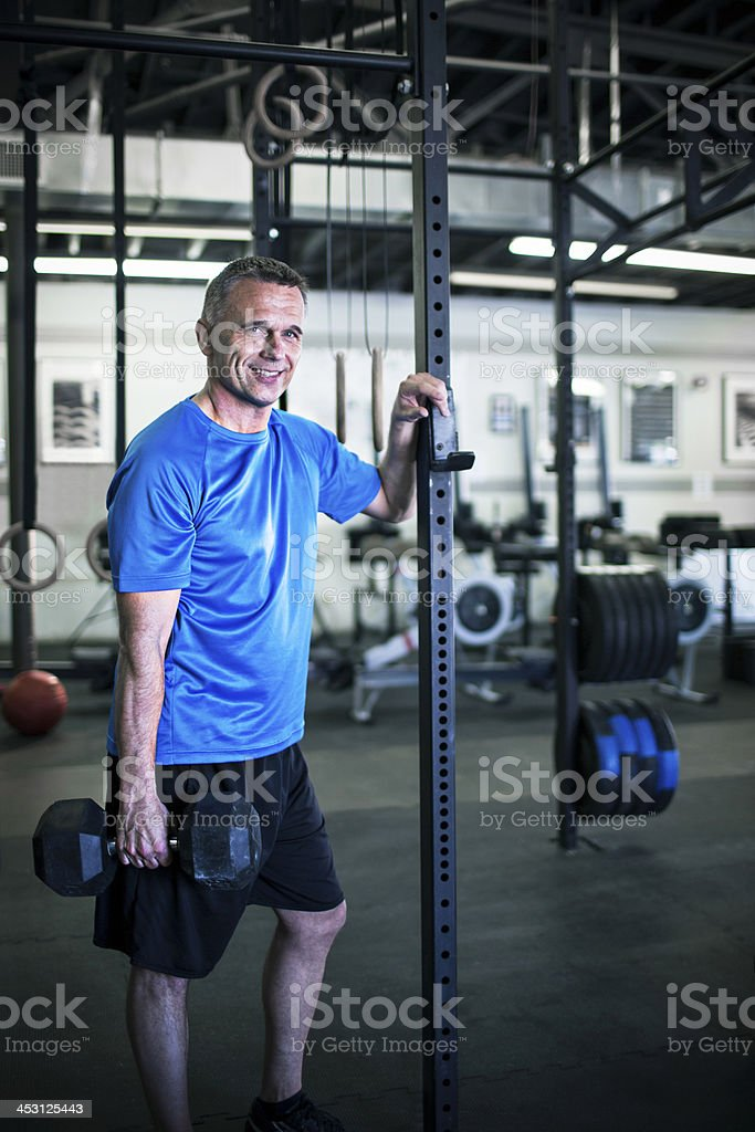 Happy in the gym royalty-free stock photo