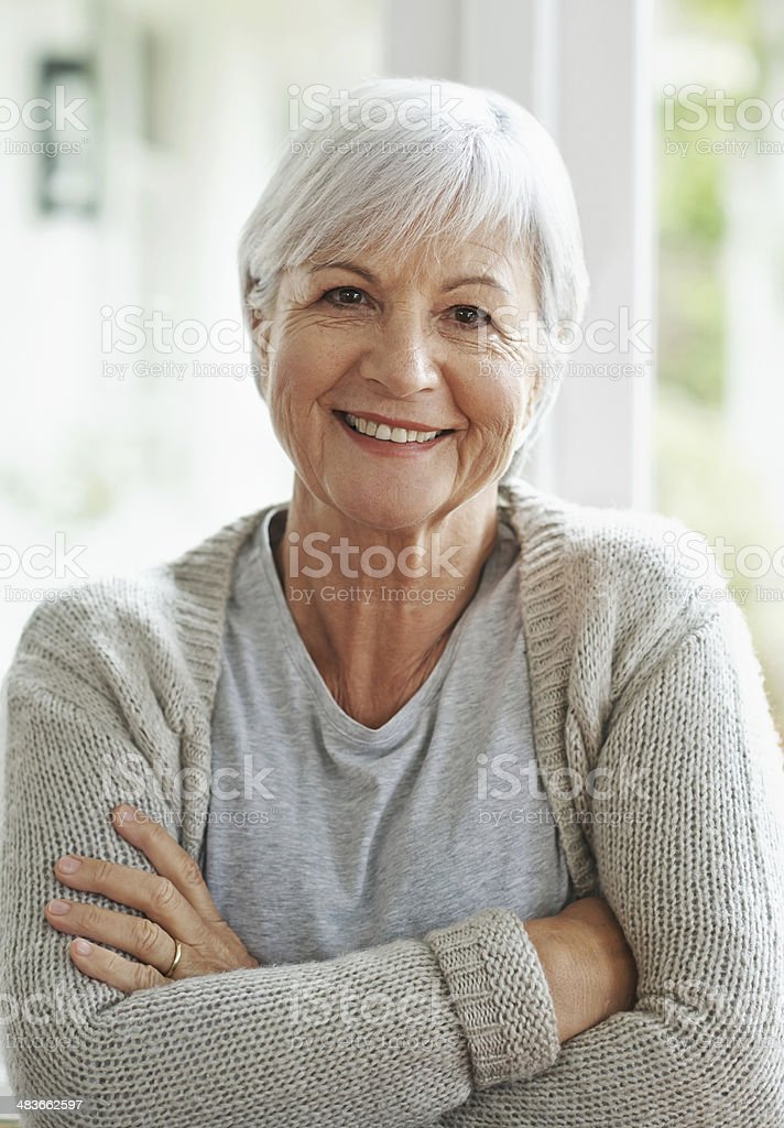 Happy in the knowledge that I've planned for my retirement stock photo