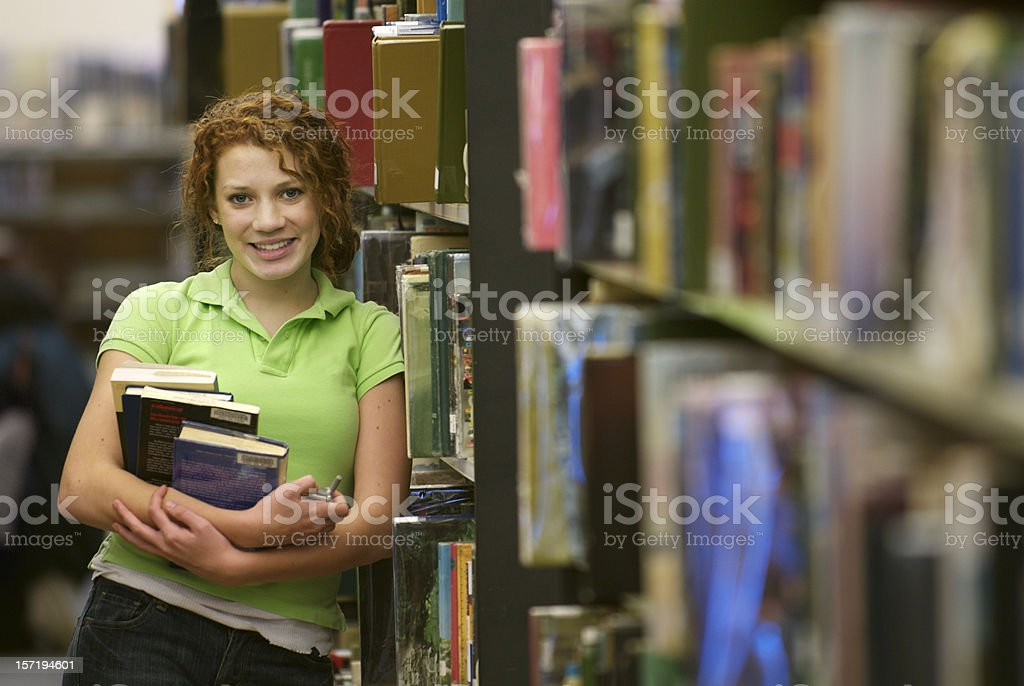 Happy in the Library royalty-free stock photo