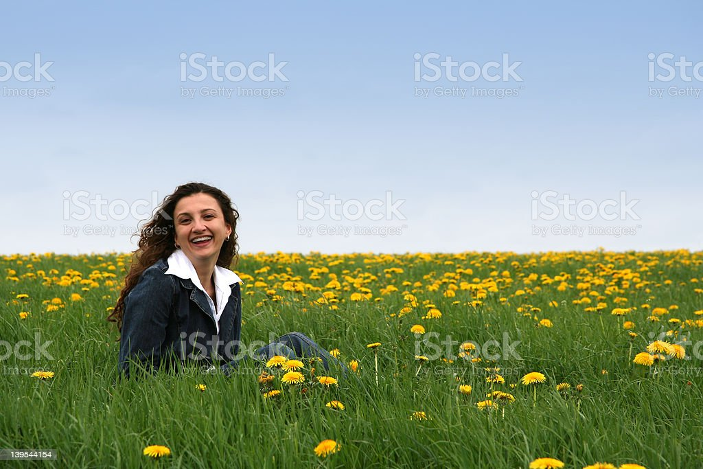 Happy in the meadow III royalty-free stock photo