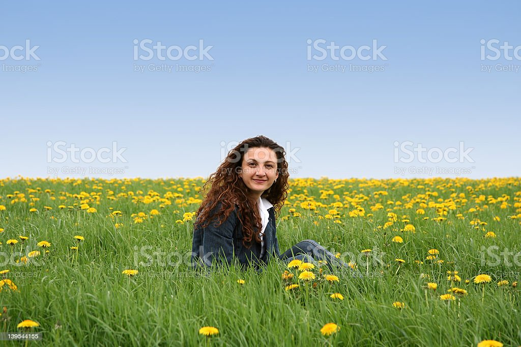 Happy in the meadow IV royalty-free stock photo