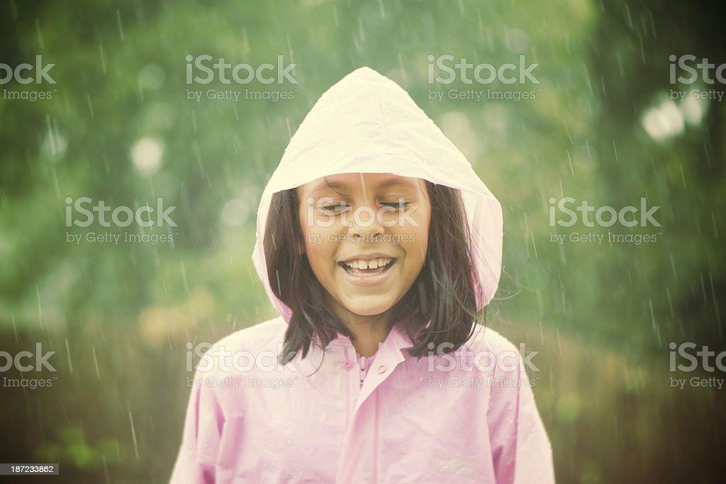happy in the rain royalty-free stock photo