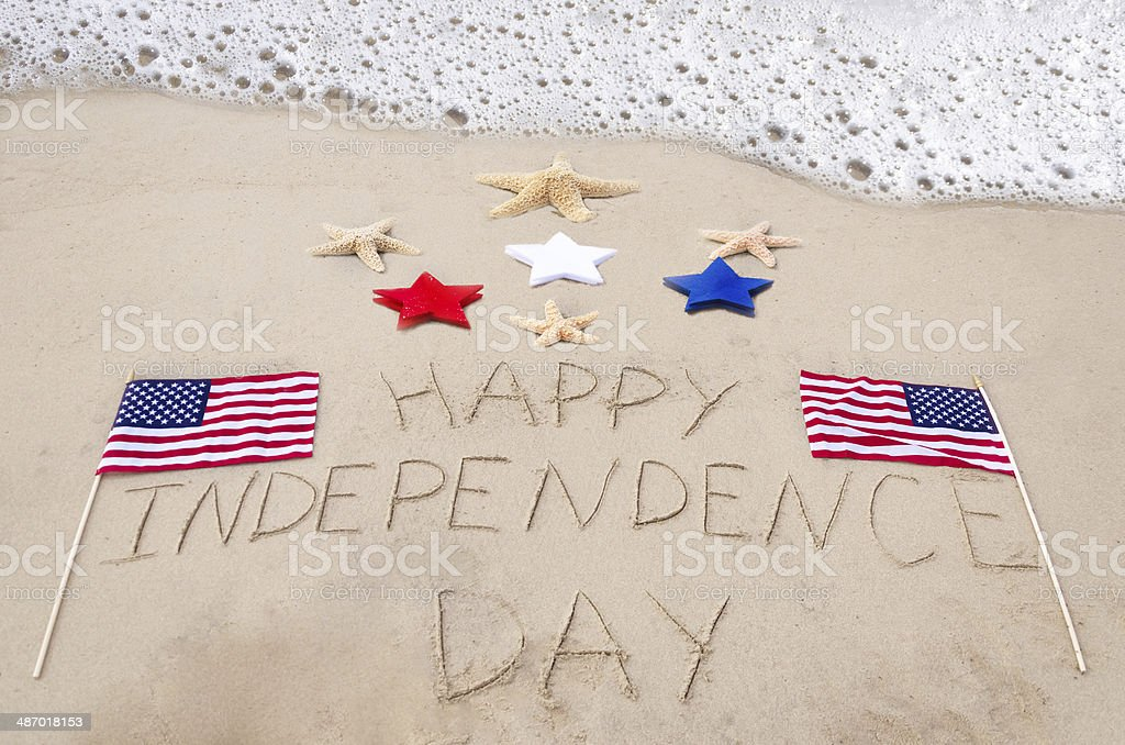 Happy Independence day background stock photo