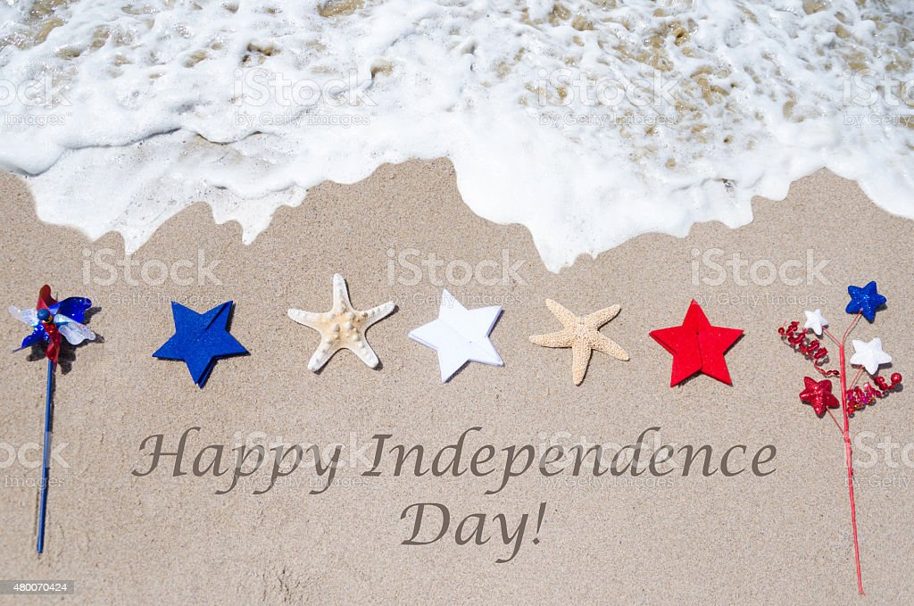 Happy Independence Day USA background stock photo