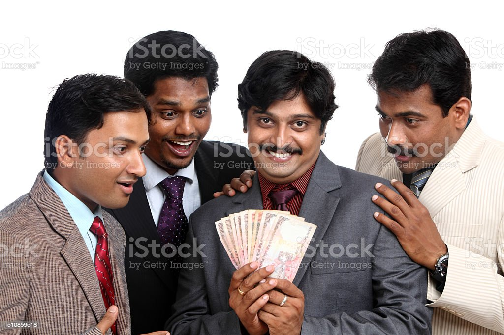 Happy Indian Business People With Money Stock Photo & More ...