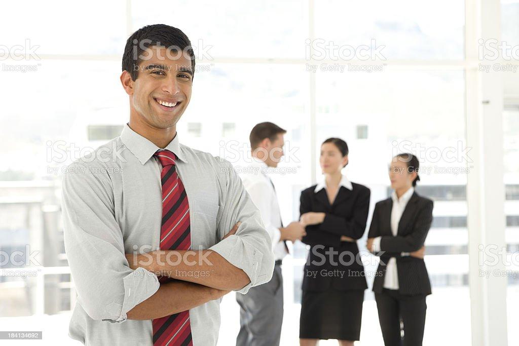Happy Indian businessman stock photo