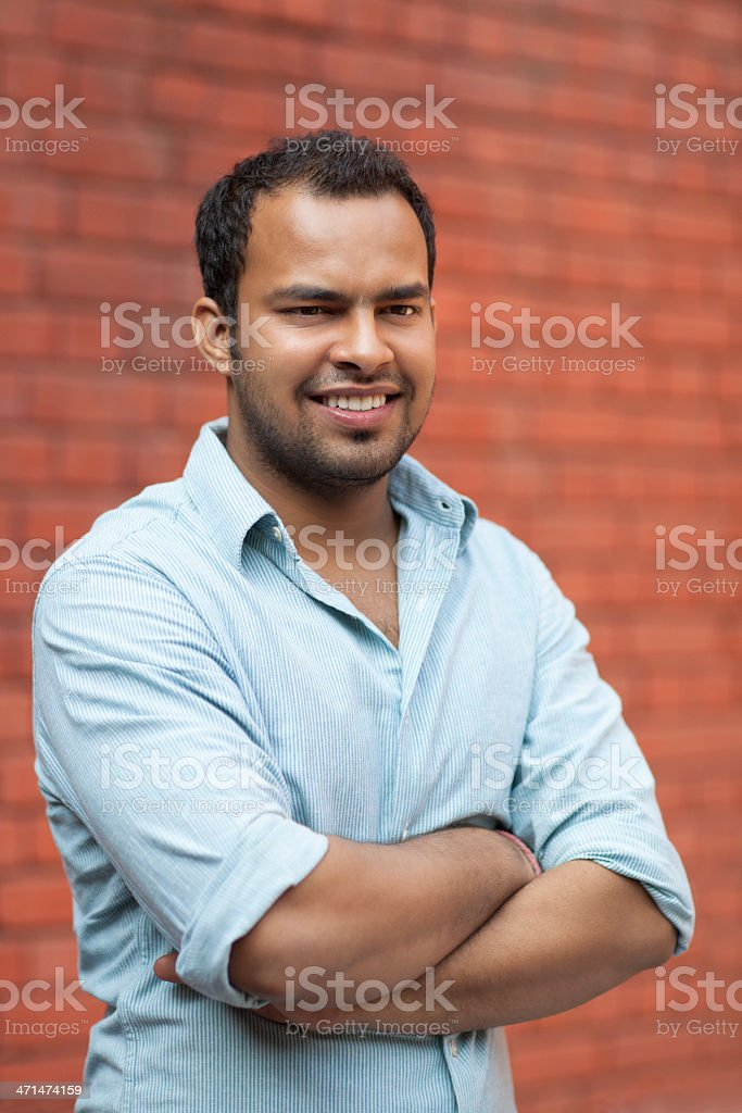 Happy Indian Young Man stock photo
