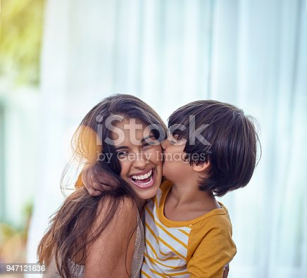 istock Happy is the child who's mother is happy 947121636