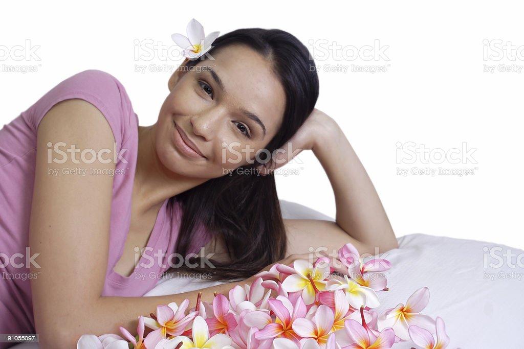 happy island flower girl royalty-free stock photo