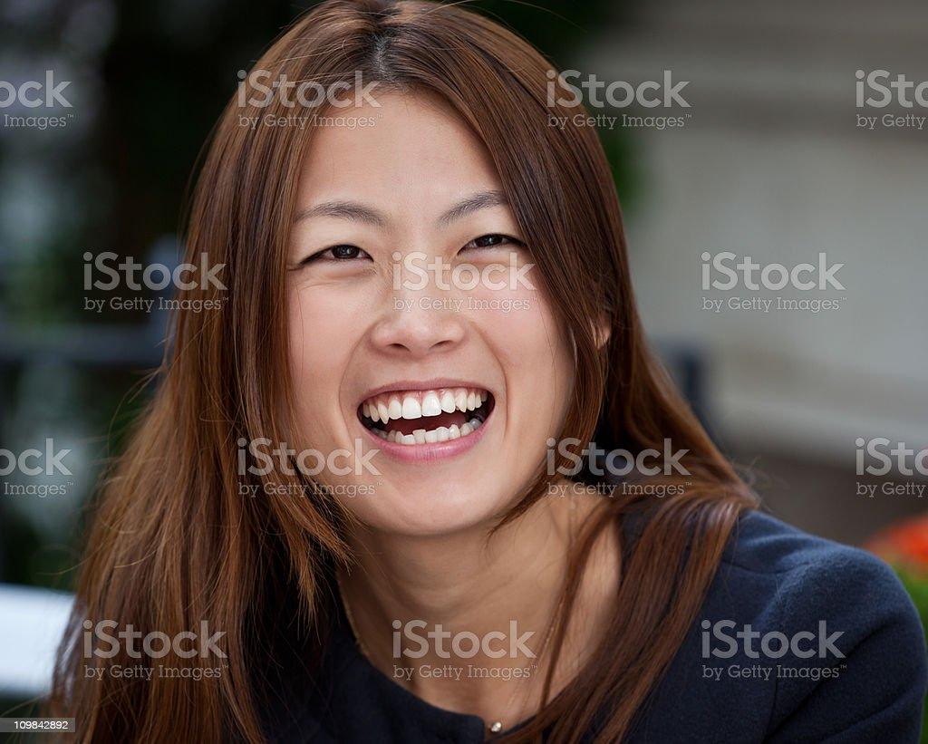 Happy Japanese Woman royalty-free stock photo