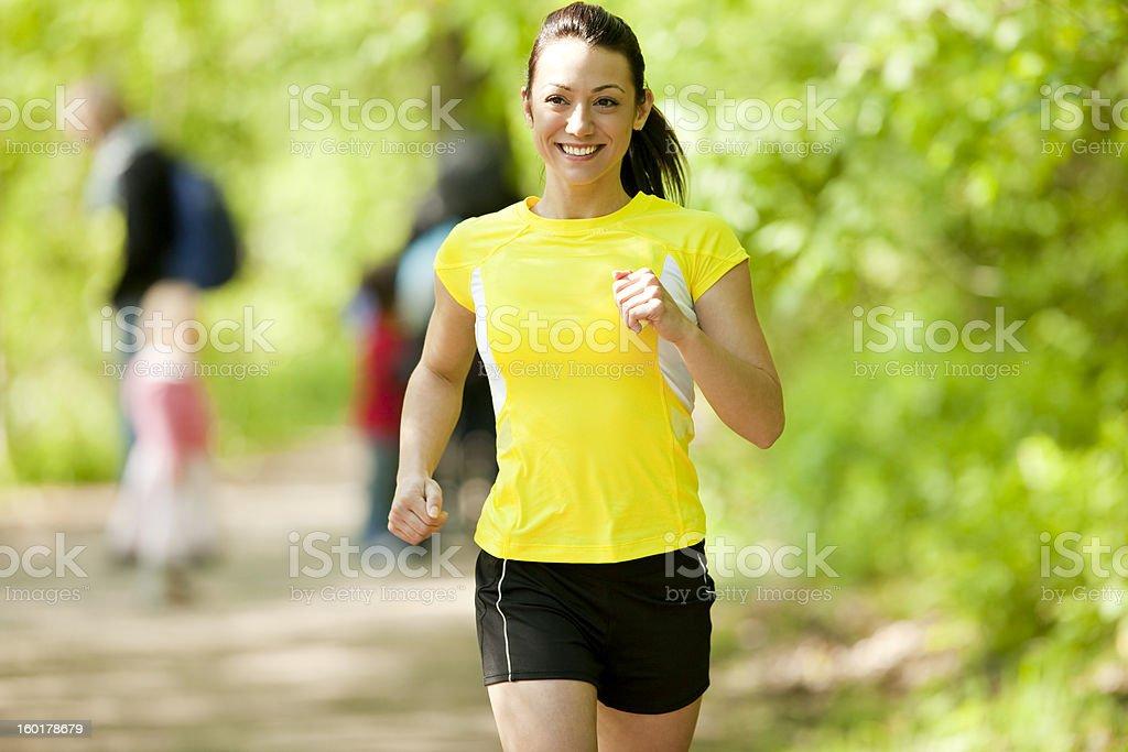 Happy Jogger stock photo