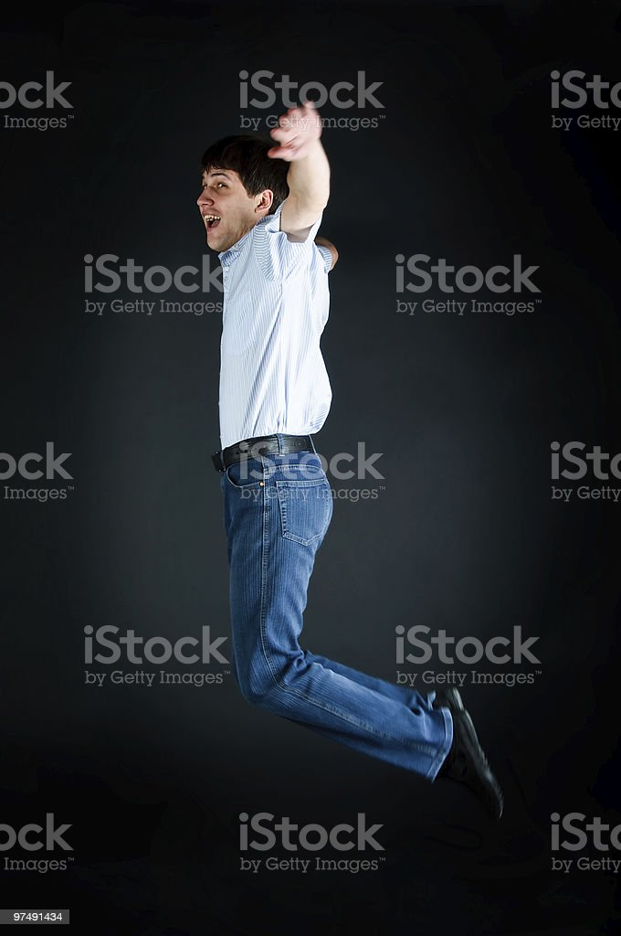 happy jump man royalty-free stock photo