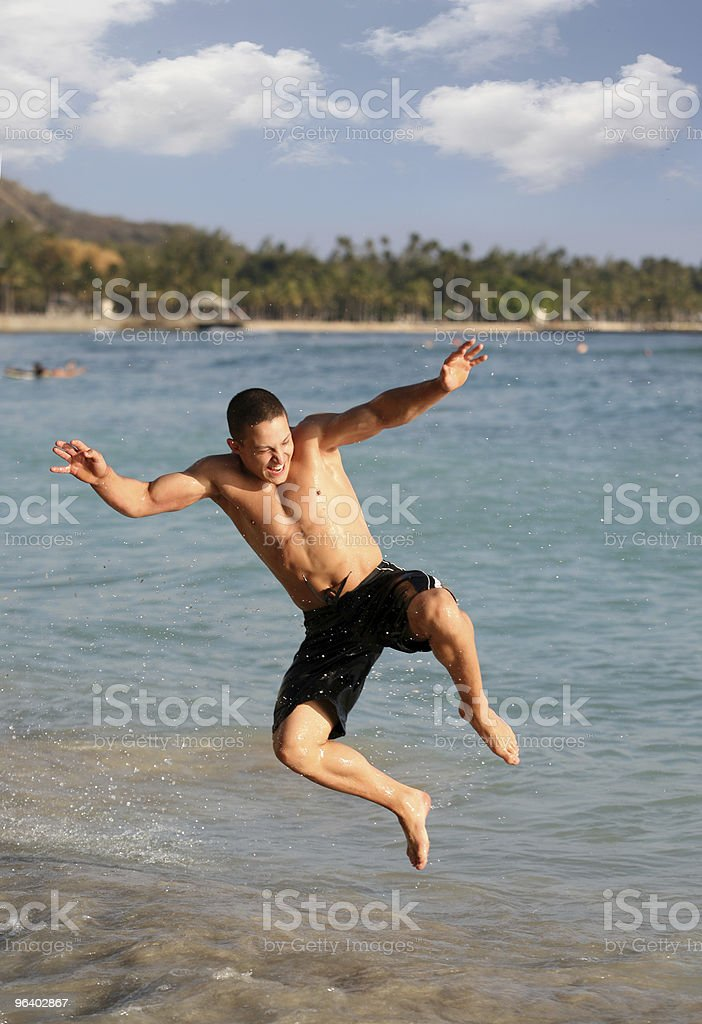 Happy jump - Royalty-free Adult Stock Photo