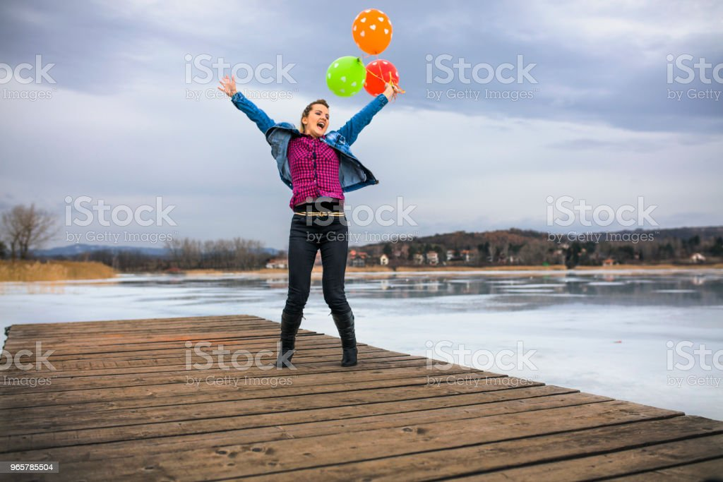 Happy Jumping - Royalty-free 18-19 Years Stock Photo