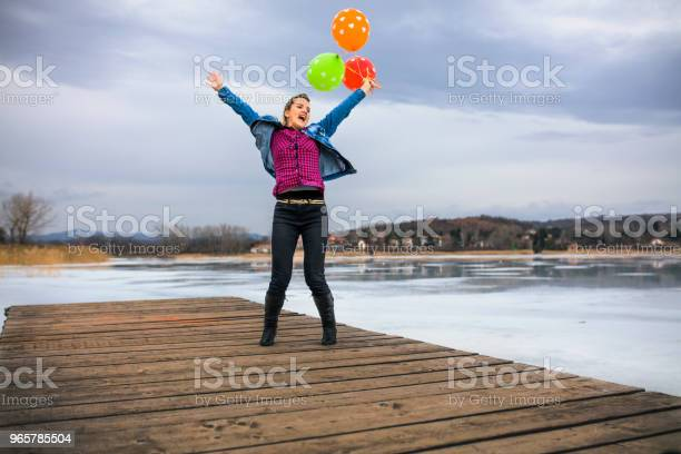 Happy Jumping Stock Photo - Download Image Now