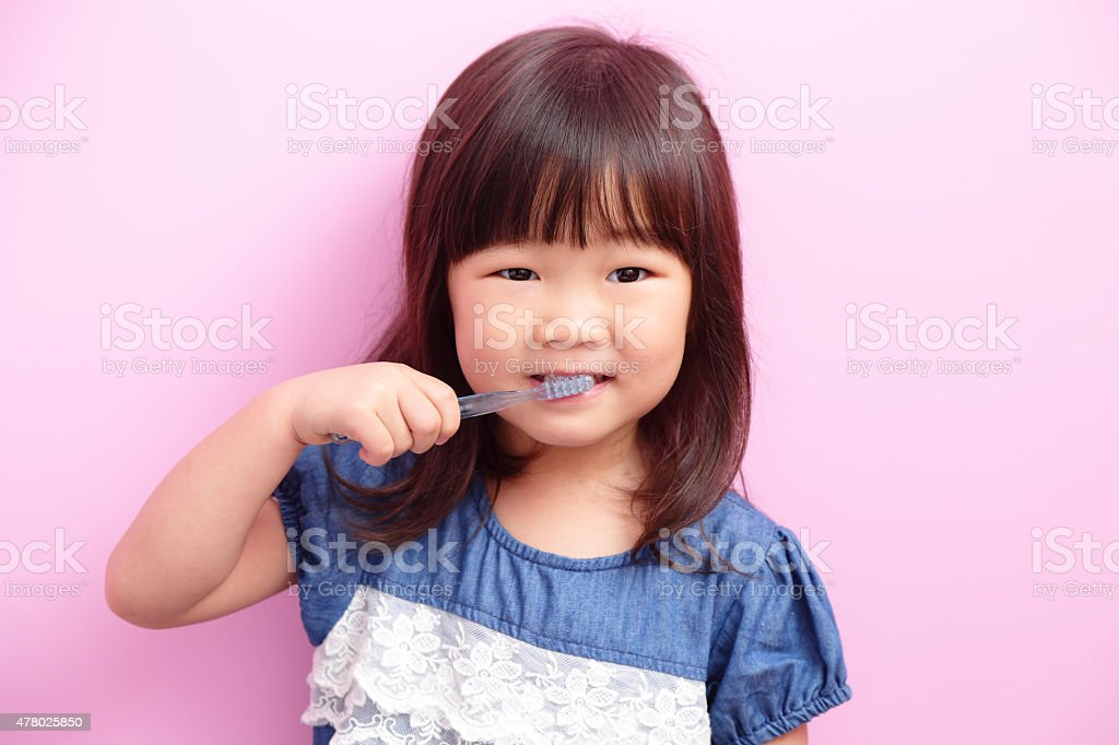Happy kid girl smile stock photo