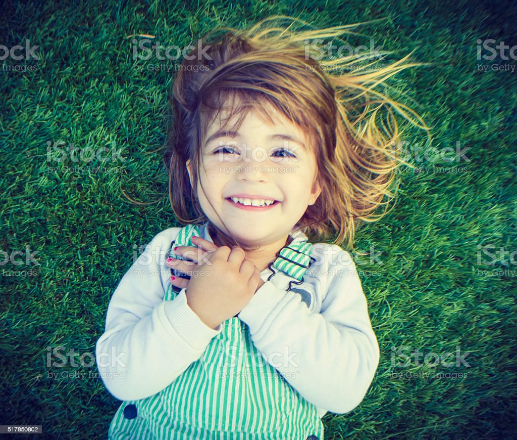 Happy kid stock photo
