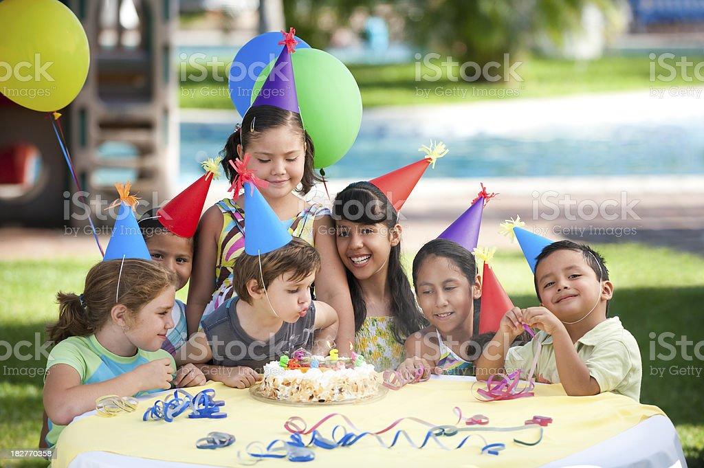 Happy kids enjoying the party royalty-free stock photo