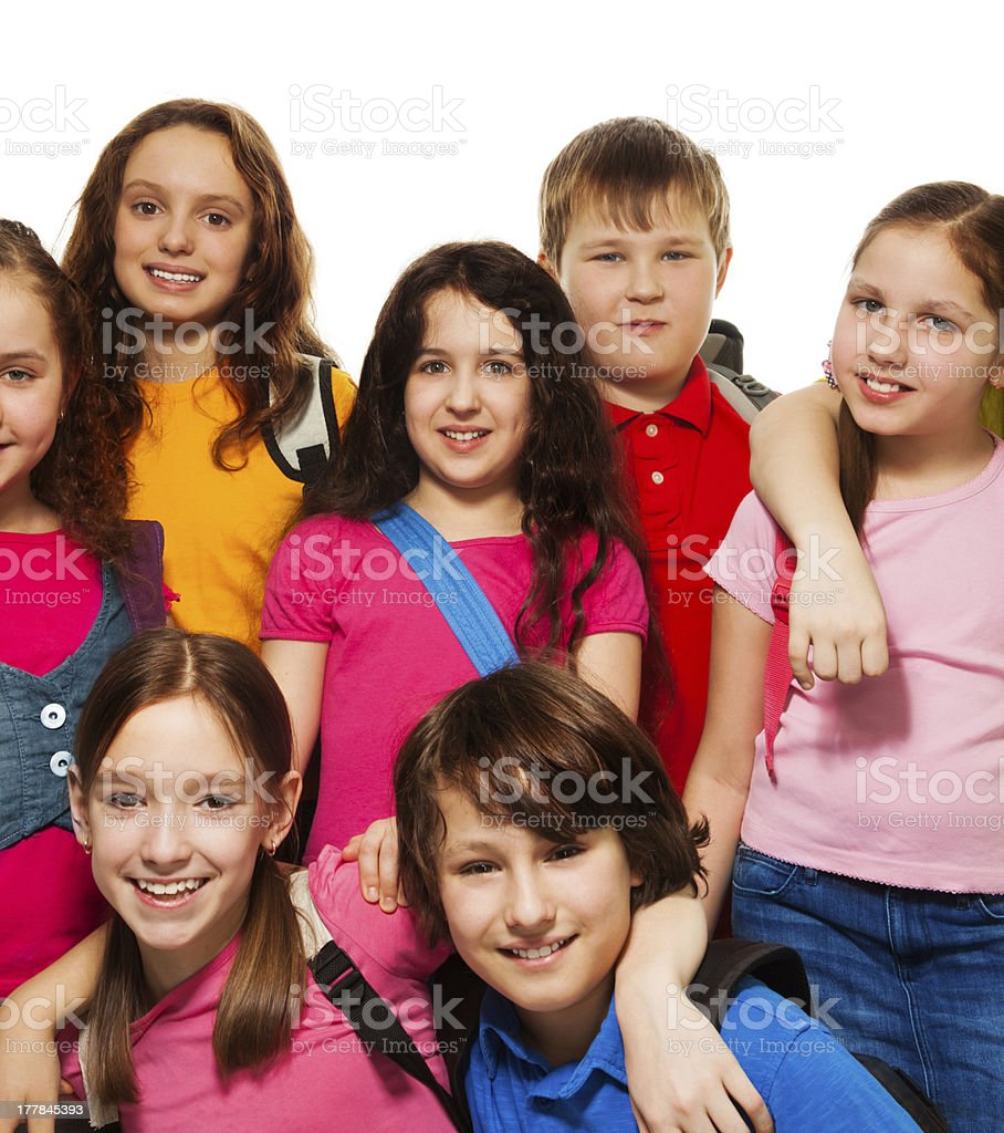 Happy kids from school royalty-free stock photo