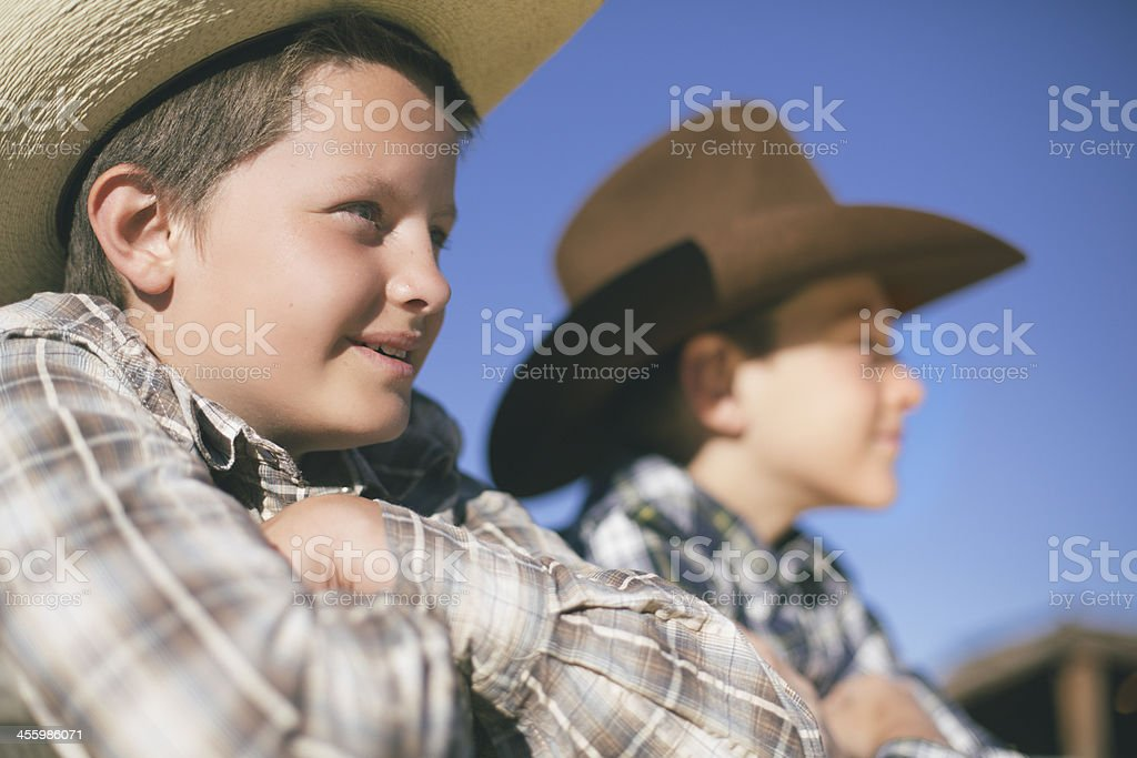 Happy kids in Montana royalty-free stock photo