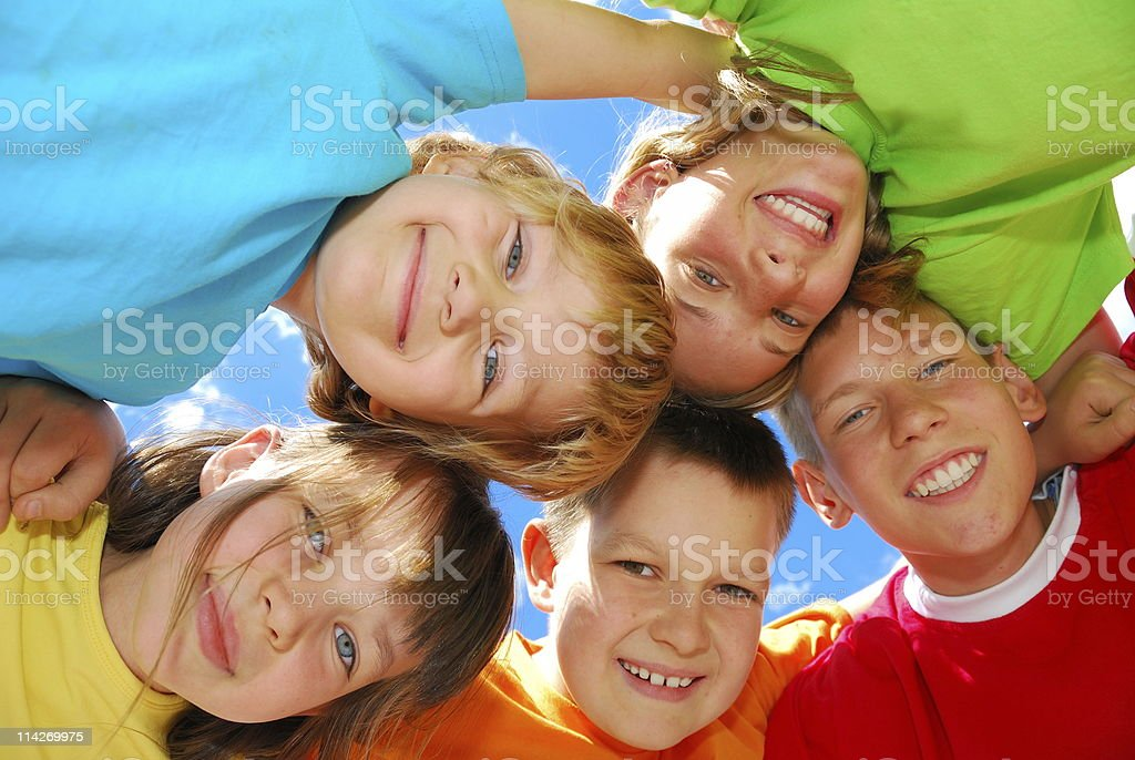 Happy kids royalty-free stock photo