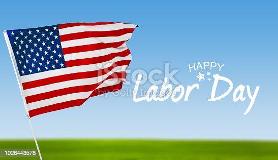 istock Happy Labor day banner, american patriotic background 1026443578