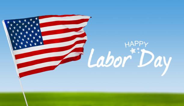 feliz dia do trabalho americano, banner patriótico fundo - dia do trabalho - fotografias e filmes do acervo