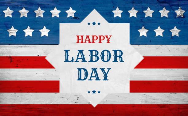 feliz dia do trabalho saudação bandeira, bandeira do eua - dia do trabalhador - fotografias e filmes do acervo