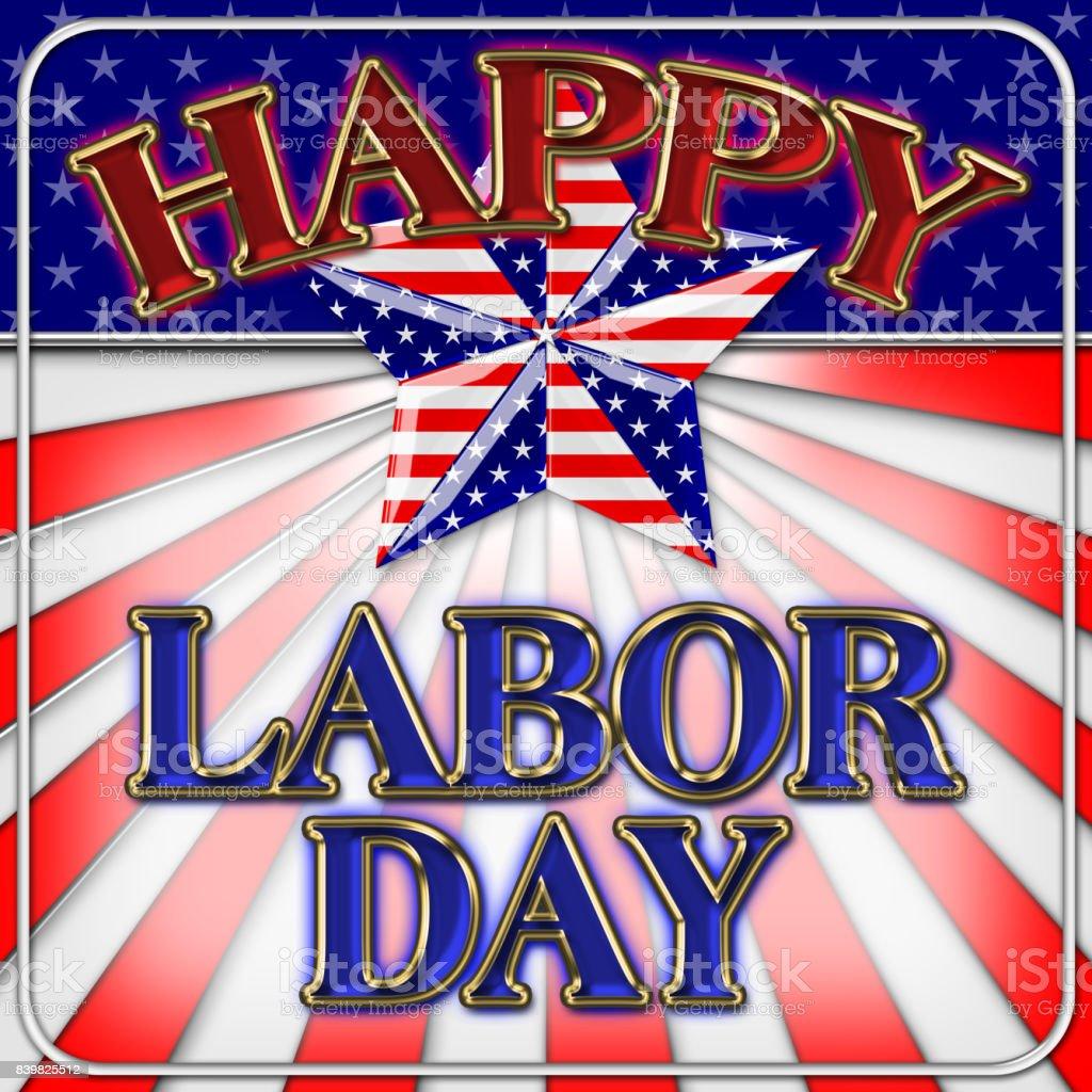 Happy Labor Day, HOT SALE, 3D, Bright colors, Bright shiny text....