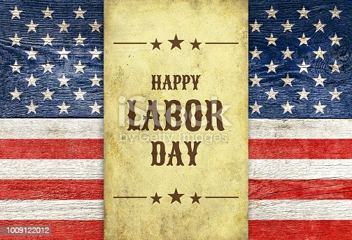istock Happy Labor day wooden background 1009122012