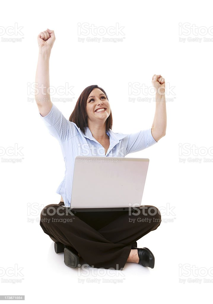 Happy Laptop User royalty-free stock photo