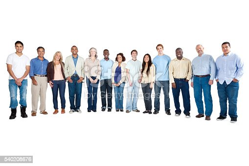 istock Happy large group of diverse people 540208676