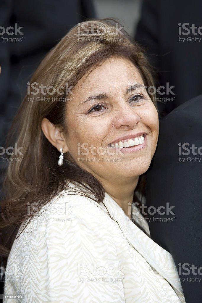 Happy Latin Business Woman stock photo
