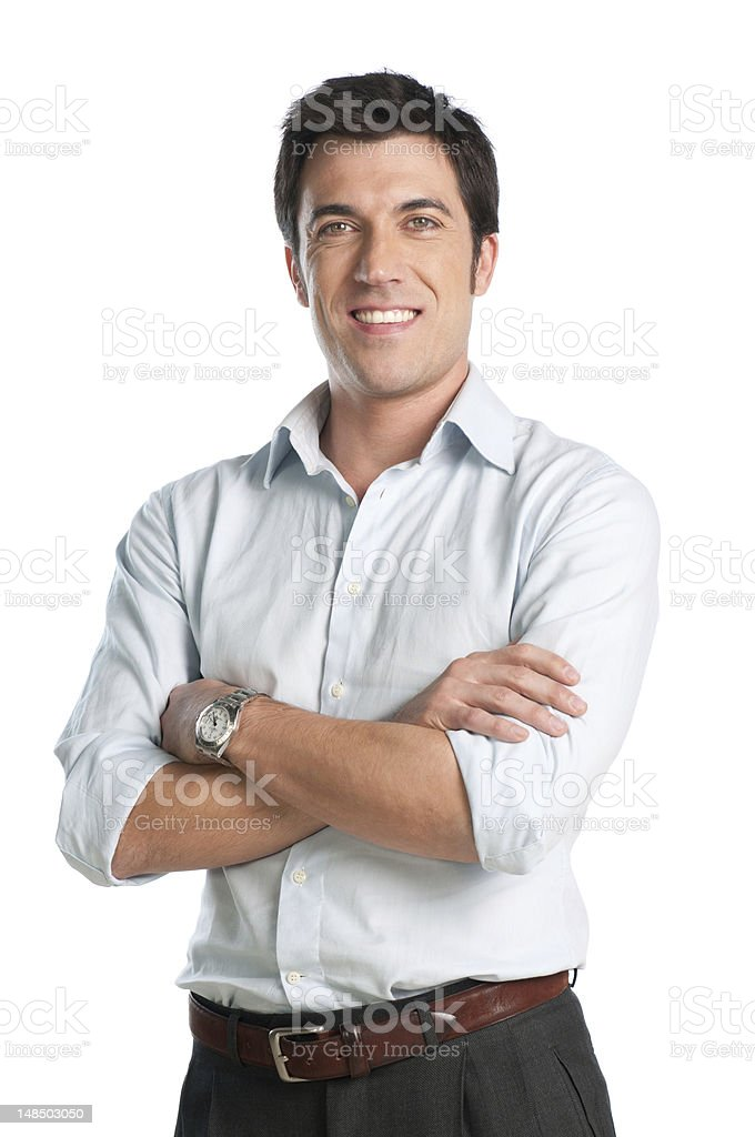 Happy latin young man stock photo