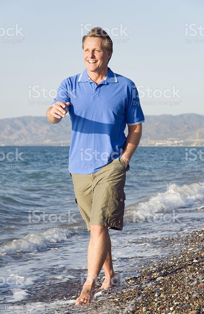 Glücklich Lachen 44 Jahre alten Mann – Foto