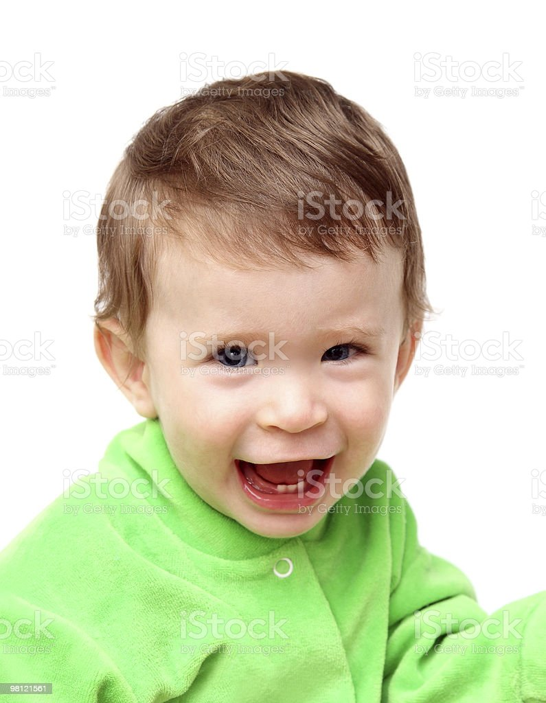 happy laughing baby royalty-free stock photo
