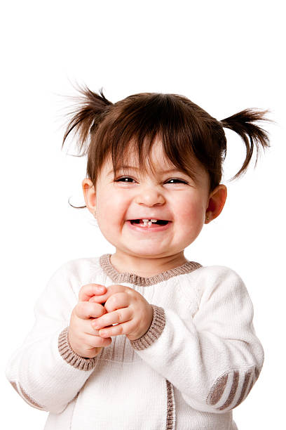 happy laughing baby toddler girl - baby girls stock photos and pictures