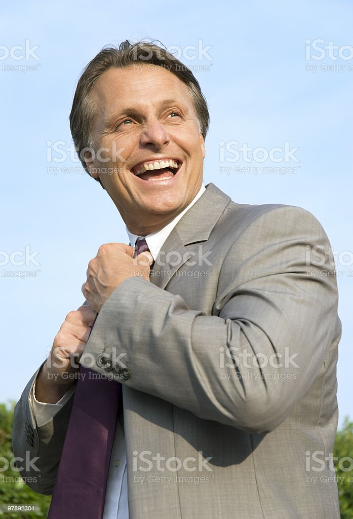 happy laughing businessman. royalty-free stock photo
