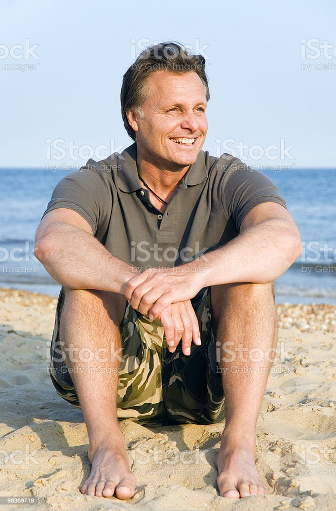 Happy laughing forties man. royalty-free stock photo