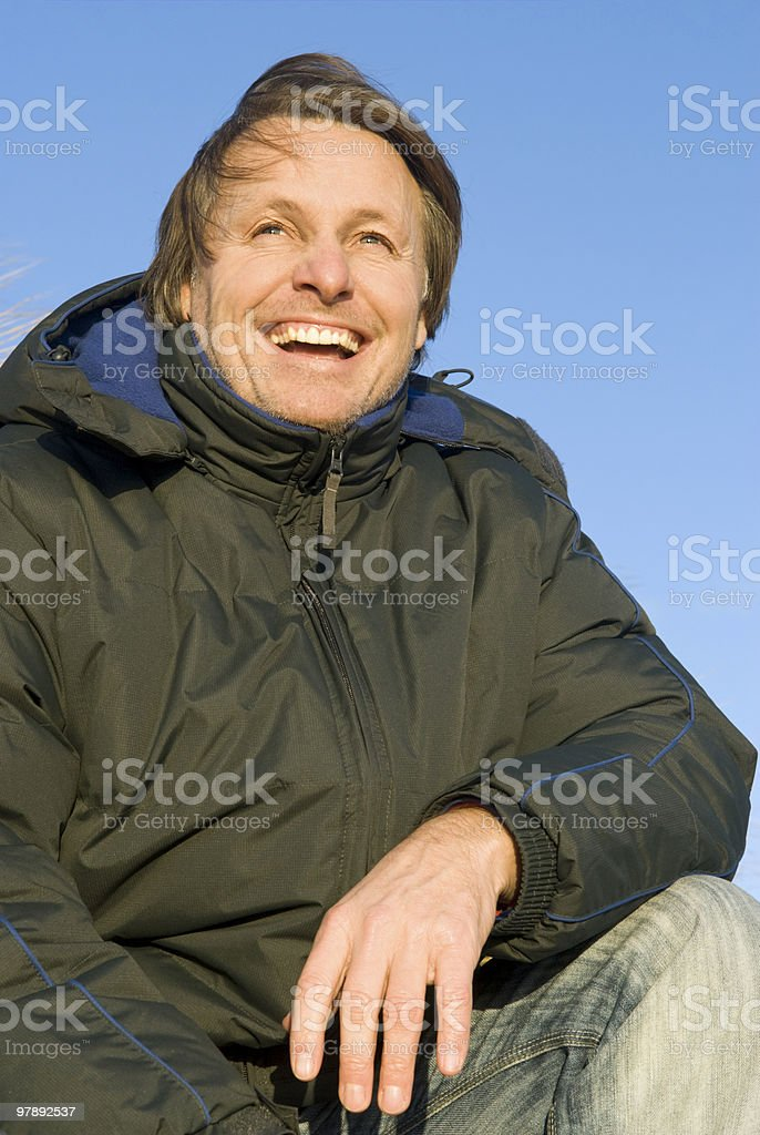 happy laughing forties man royalty-free stock photo