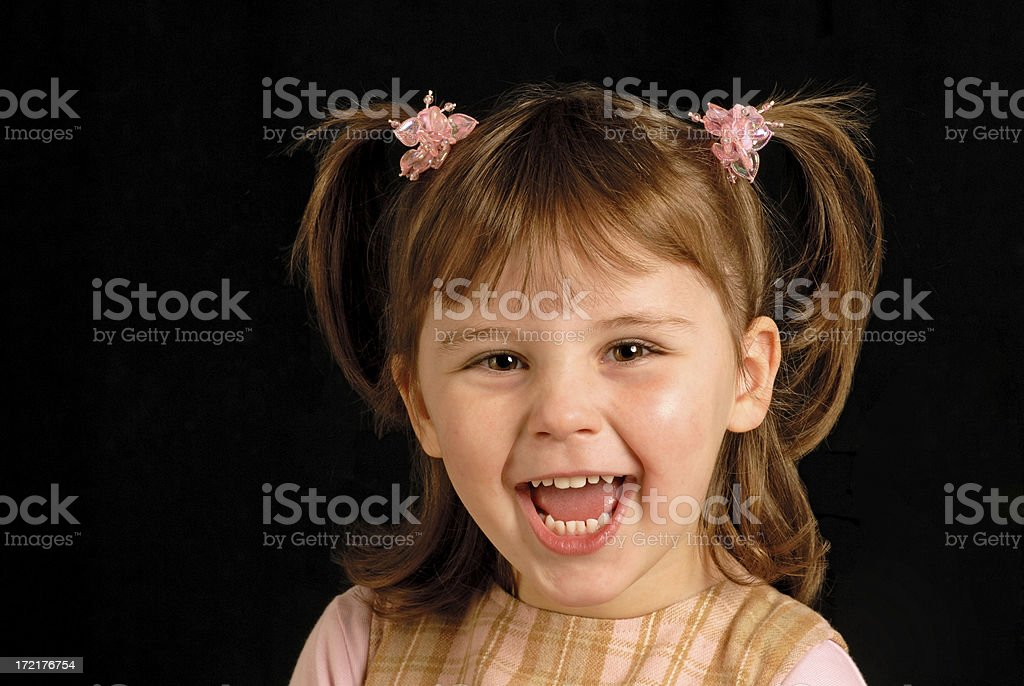 happy laughing girl royalty-free stock photo
