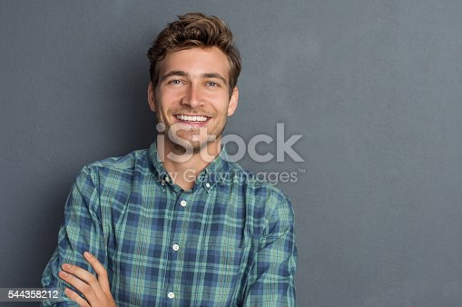 istock Happy laughing man 544358212