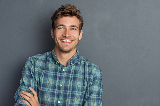 happy laughing man - handsome people stock photos and pictures