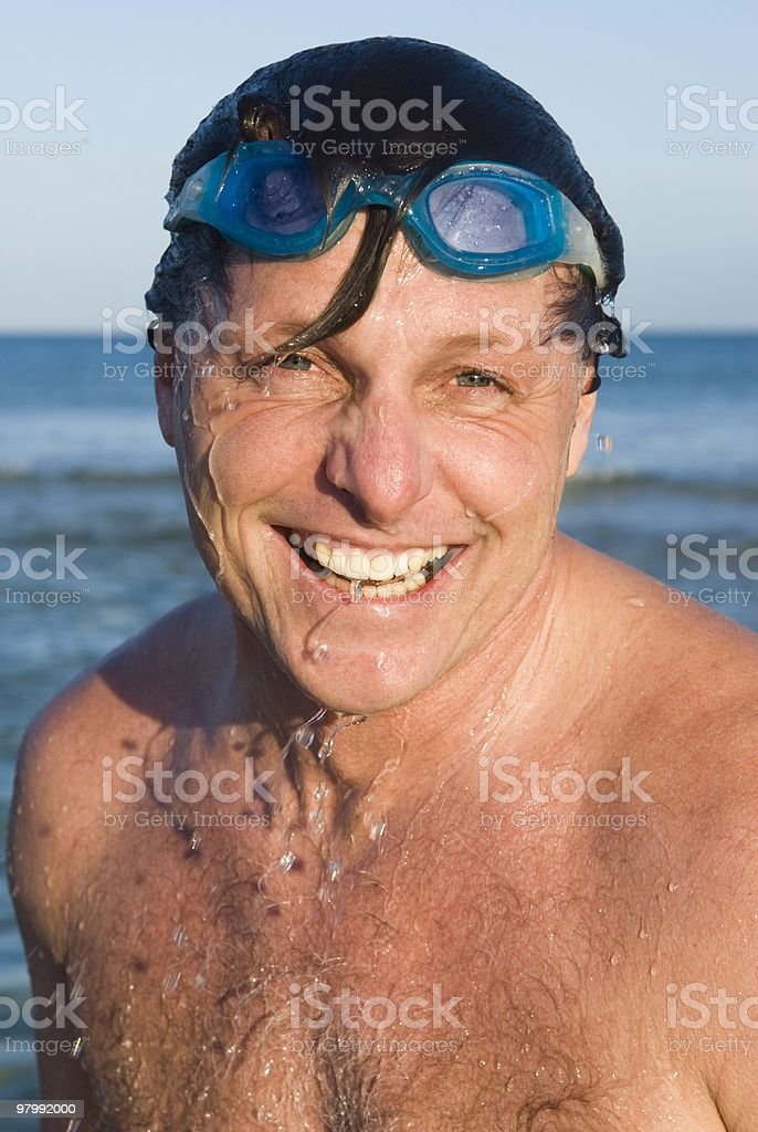 Happy laughing man. royalty-free stock photo
